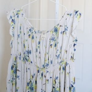 Free People Floral Tunic Size M